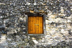 Closed wooden window photo