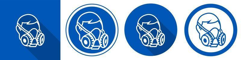 Symbol Wear Respirator sign on white background vector