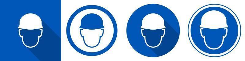 usar el símbolo del casco vector