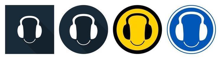 símbolo use protección para los oídos vector