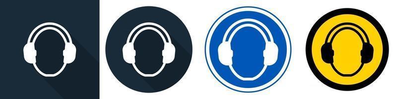Wear hearing protection Symbol vector