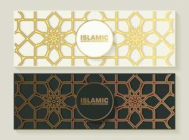 Luxury islamic banner style ornament pattern vector
