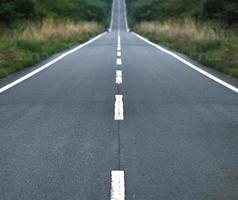 Straight tar road photo