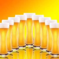 Row of beer pints photo