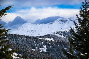 Cima Dodici covered in snow photo
