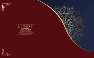 Fondo de mandala de lujo con arabescos dorados. foto