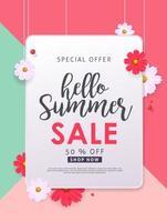 Summer sale background layout banners  voucher discount vector