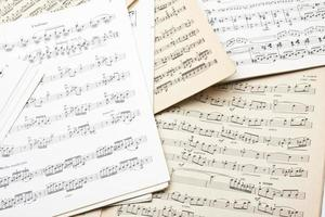 Old sheet music photo