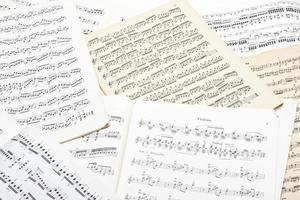 Old music note sheet photo