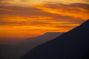 Exciting sunset in the Vicenza pre-Alps photo