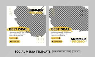 Social Media Posts Template vector
