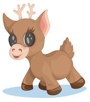 Vector image of Christmas deer