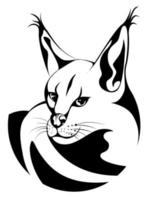 Vector image of a Caracal in a circle