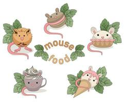 Vector image of Goodies in the form of a mouse