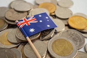 Stack of coins with Australia flag photo