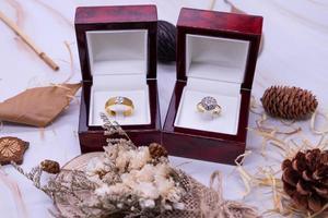 Diamond ring 9k gold jewelry photo