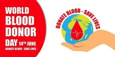 World Blood Donor Day vector illustration design