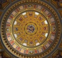 Budapest, Hungary, 2021 - St. Stephen's Basilica dome artwork photo