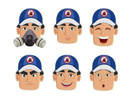 Emotions of pest control worker vector