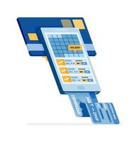 Online plane ticket purchase concept vector