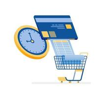Online credit card bill payment concept vector