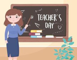 teacher day celebration vector