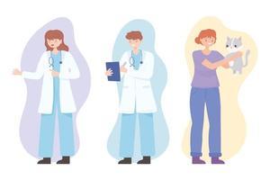 vet doctors girl vector