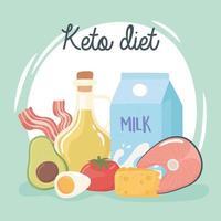 keto diet nutrition vector
