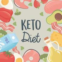 food keto diet vector
