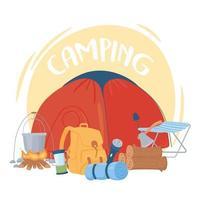 camping recreation adventure vector
