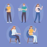 coworking people employees vector