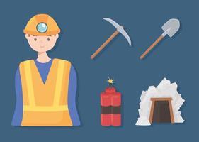 mining miner tools vector