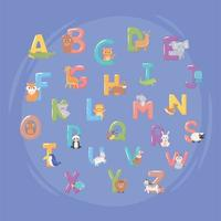 capital letter english alphabet vector