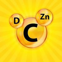 Vitamin C D Zn Complex vector