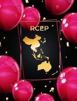 Holiday concept Modern Regional Comprehensive Economic Partnership RCEP map vector