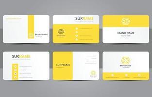 Business Yellow Abstract Shape Brochure Design vector