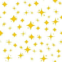 Yellow bright stars sparkle seamless pattern background vector