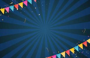 Banner with garland of flags and ribbons vector
