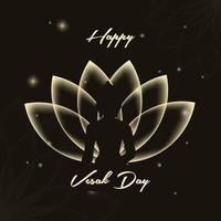 Vesak day Social Media Post Vector with transparent lotus background