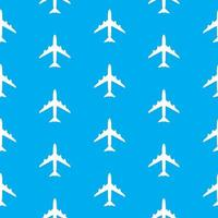 Airplane Seamless Pattern on Background vector