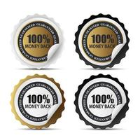 Signo de plantilla de etiqueta de devolución de dinero 100 vector