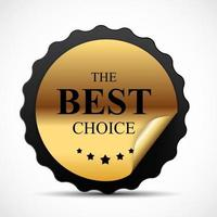 Gold Label The Best Choice Template vector