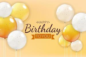 Happy Birthday Background with Balloons vector