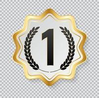 icono de medalla de oro para el primer lugar vector