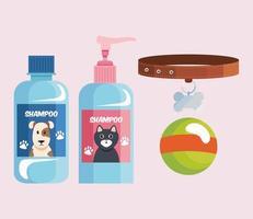 four pet shop icons vector