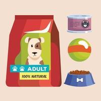 four mascot shop icons vector
