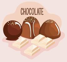 sweet chocolate products vector