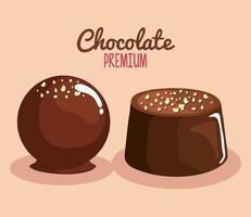 two chocolate premium vector