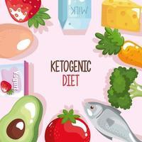 keto dieting frame vector
