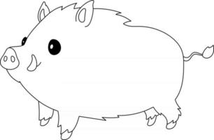 Boar Kids Coloring Page Great for Beginner Coloring Book vector